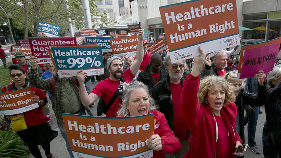 More unions jump on single-payer caravan