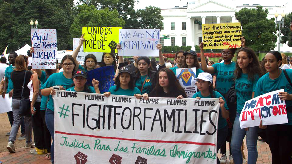 Dreamers and allies fight on after Trump lowers boom