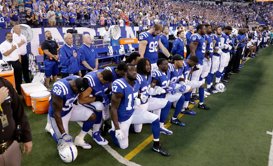 NFL players union again defends members, against Trump and Pence