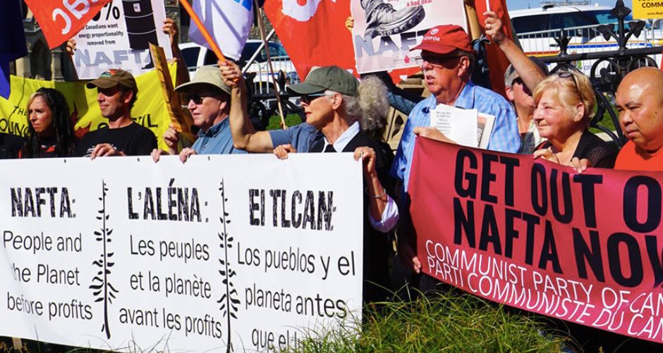 "Canadian Communists, labor, and social justice groups oppose ""new NAFTA"""