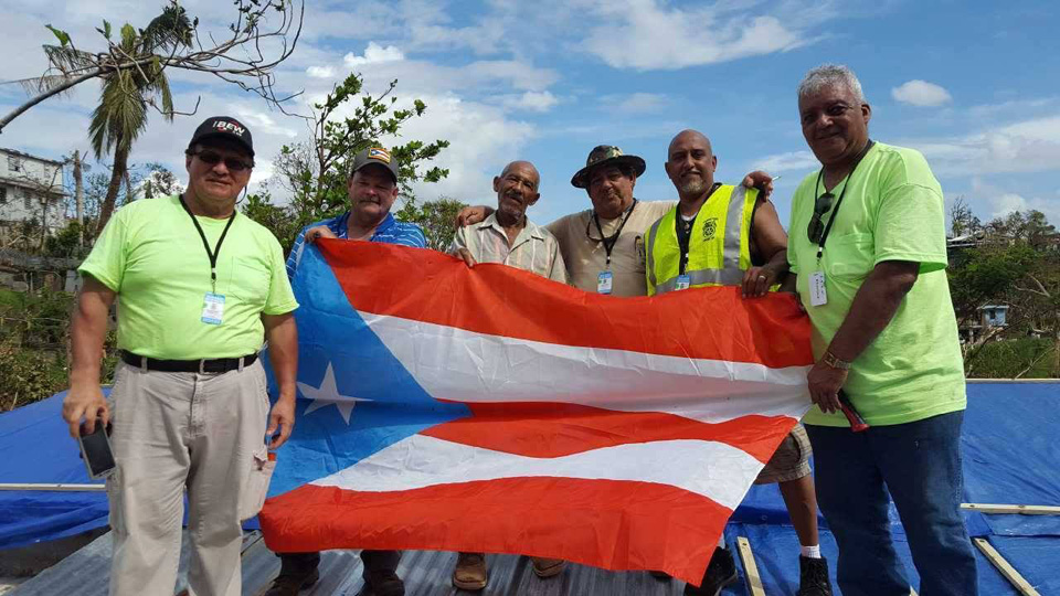 Labor unions bring real rebuilding assistance to Puerto Rico