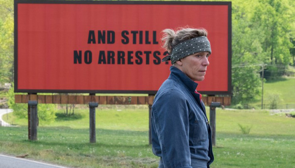 """Three Billboards Outside Ebbing, Missouri"": Writing on the wall"