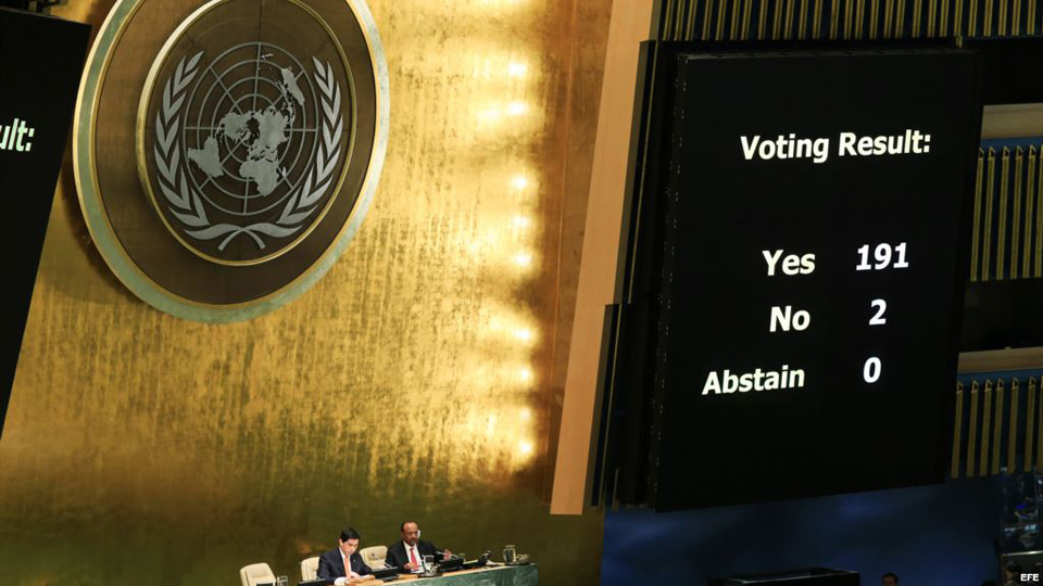 For 26th time, UN vote calls for end to U.S. blockade of Cuba