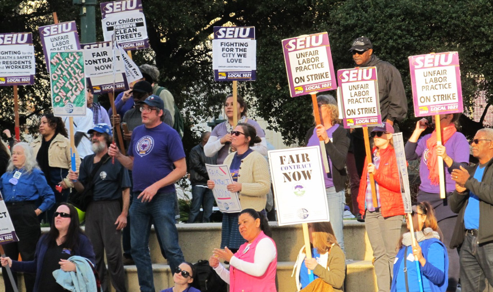With picket lines up, striking Oakland workers enter mediation