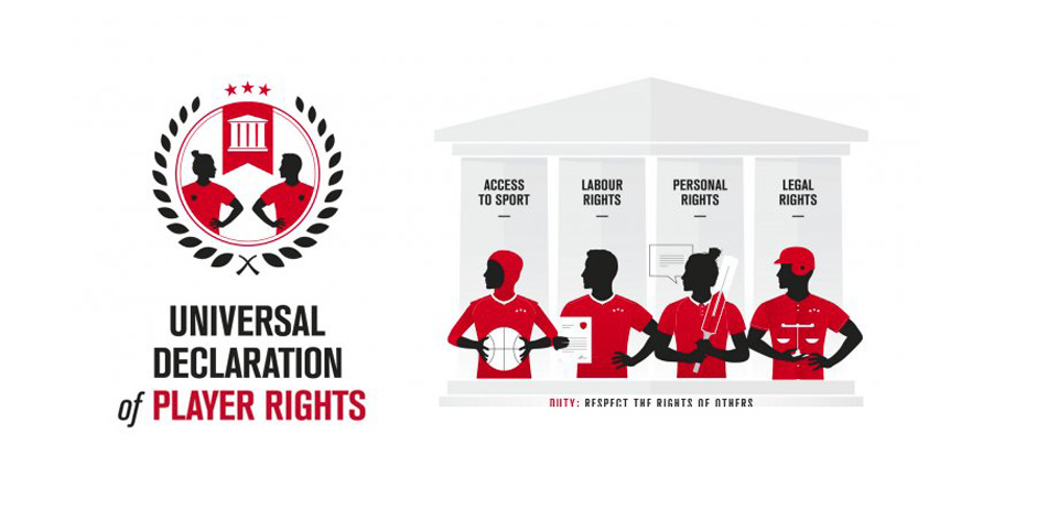 International sports union leaders unveil bill of rights for players