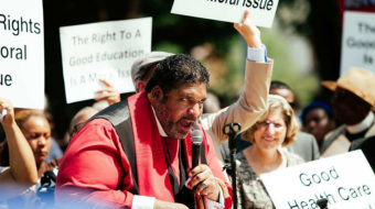 Rev. Barber rouses crowd at Labor's Martin Luther King conference