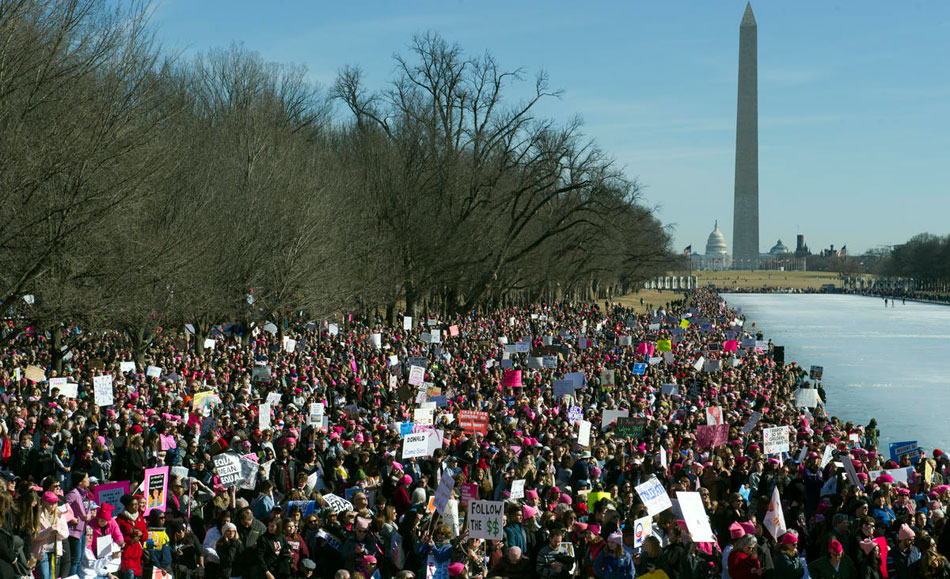 In Washington and around the country, Women's March targets 2018 elections
