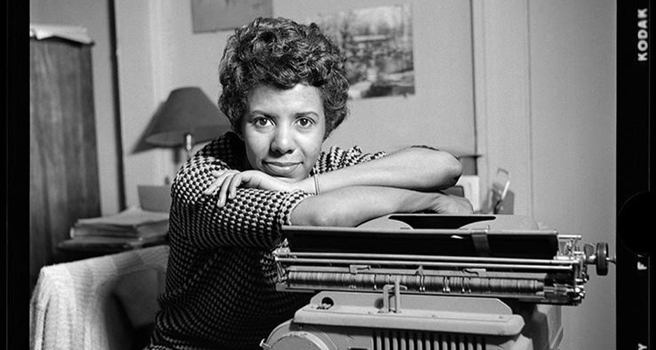 """Lorraine Hansberry: Sighted Eyes/Feeling Heart"": Portrait in black and red"