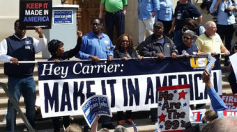"""Carrier worker to Trump: """"You robbed me after I helped you win"""""""