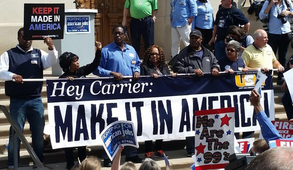 "Carrier worker to Trump: ""You robbed me after I helped you win"""