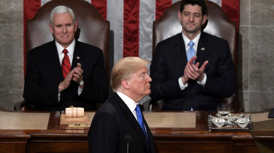 Trump's address gets thumbs down from citizens, union leaders, progressives