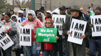 Moment of silence honors Memphis sanitation workers
