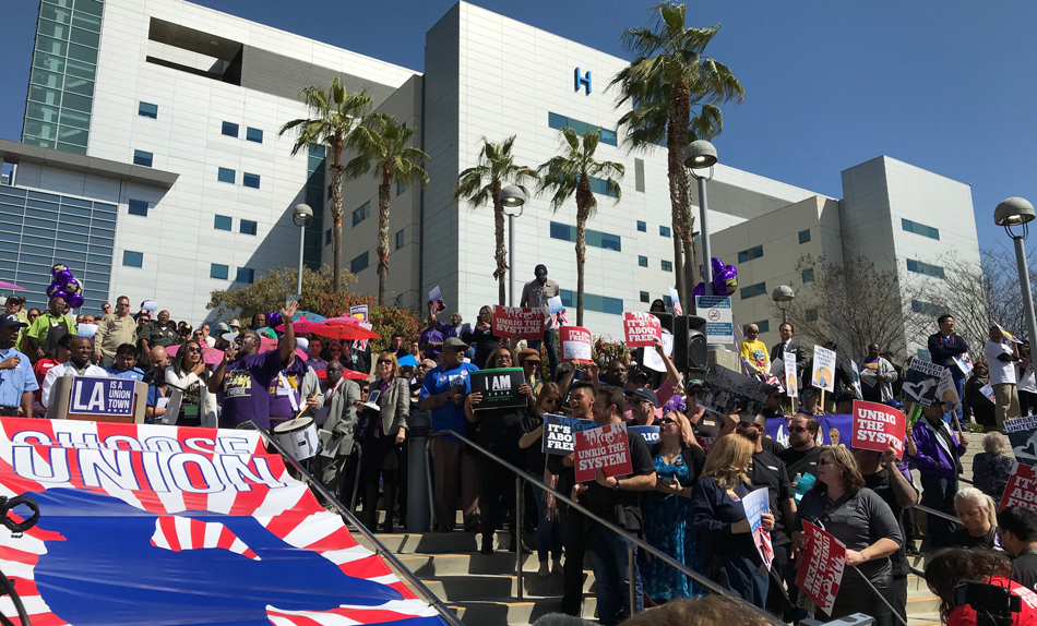 L.A. workers rally to denounce Right to Work, appeal to Supreme Court