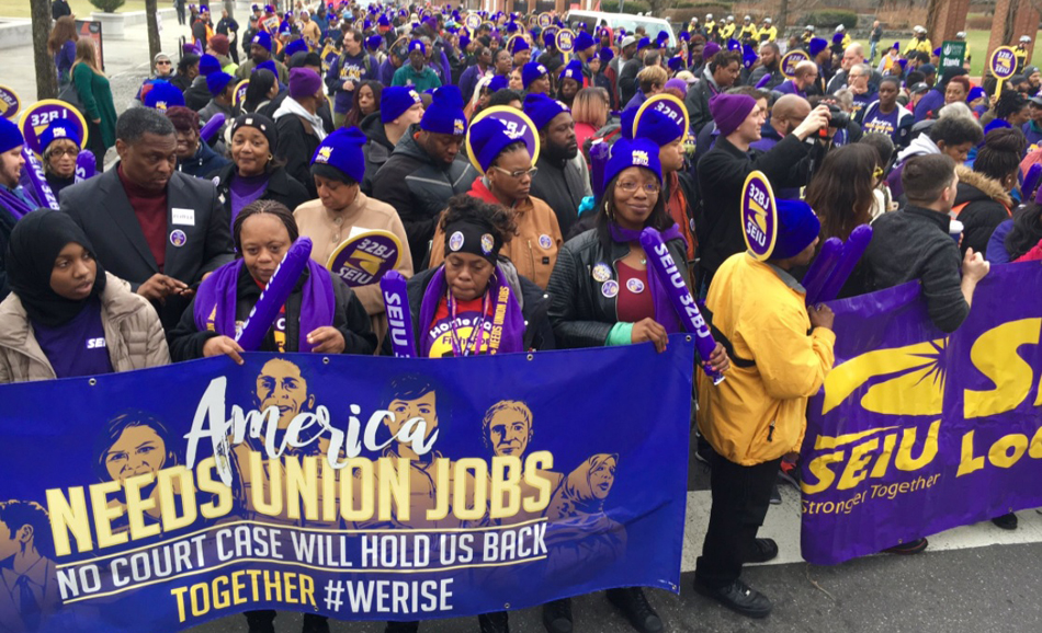 Big rally in Philly against Janus attack on union organizing rights