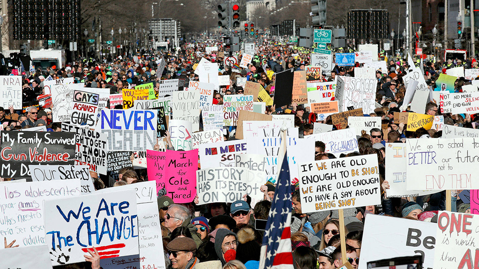 "One million declare ""Never Again"" in DC march for gun control"