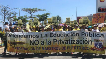Puerto Rico teachers walk out to protest privatization