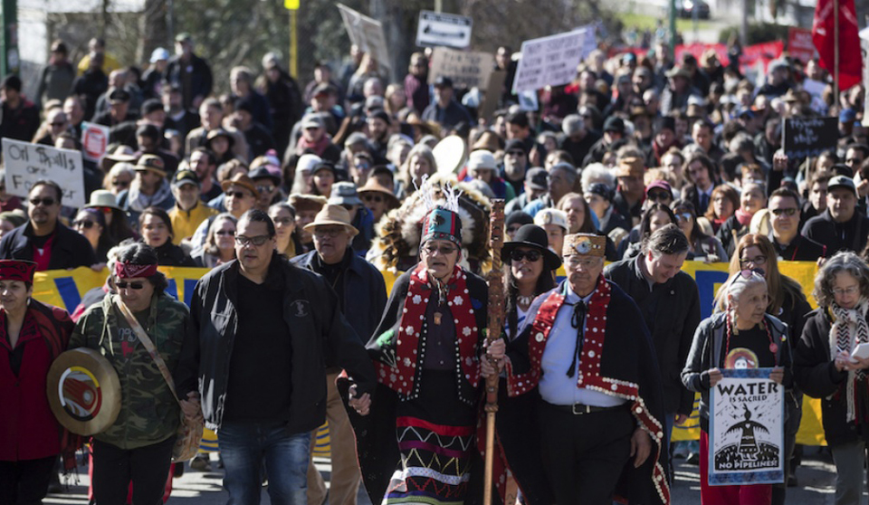 Thousands march against Canada oil pipeline expansion