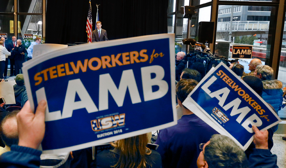 Unions carry Democrat to victory in Pennsylvania district won by Trump
