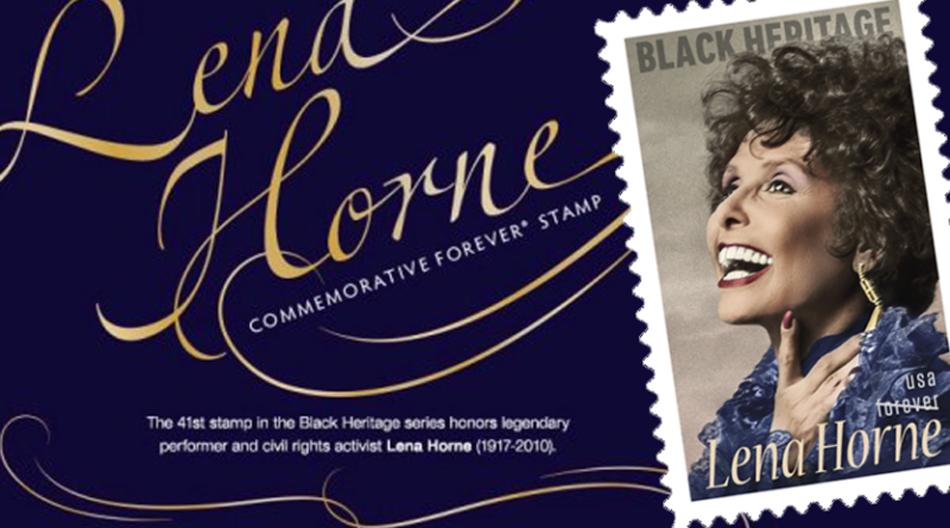 Activist singer entertainer Lena Horne honored philatelically
