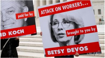 """Trump Ed Secretary DeVos trashes her own workers' union, imposes """"contract"""""""