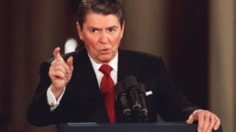 "Protesters call Reagan's induction into Labor Hall of Honor a ""shame"""