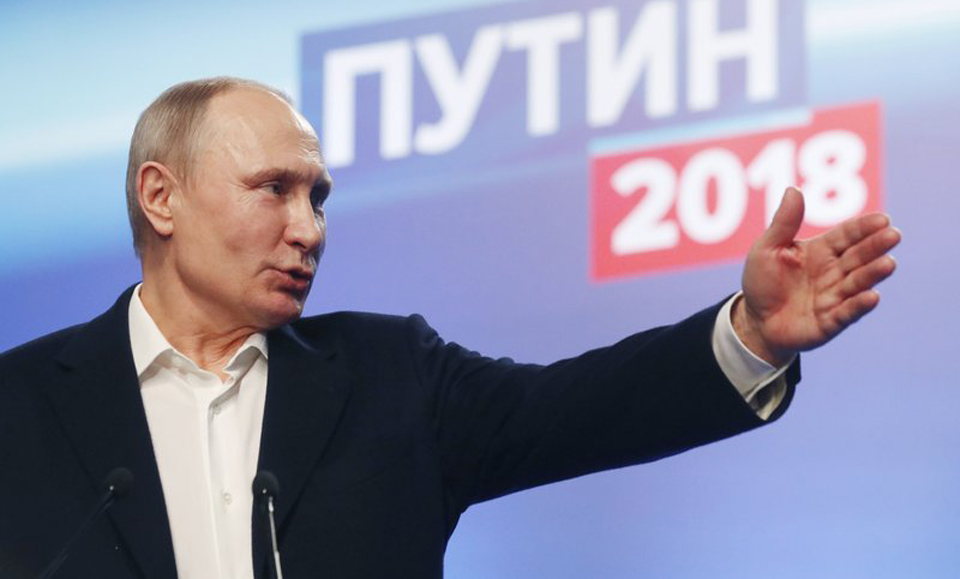 "In Russia, Putin wins again; Communist candidate calls election ""filthy"""