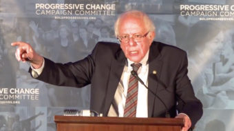 Sanders rouses progressive candidates with call to fight party establishments