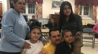 Connecticut: Solidarity postcards support Nelson Pinos in sanctuary