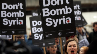 Thousands nationwide protest U.S. air strikes on Syria