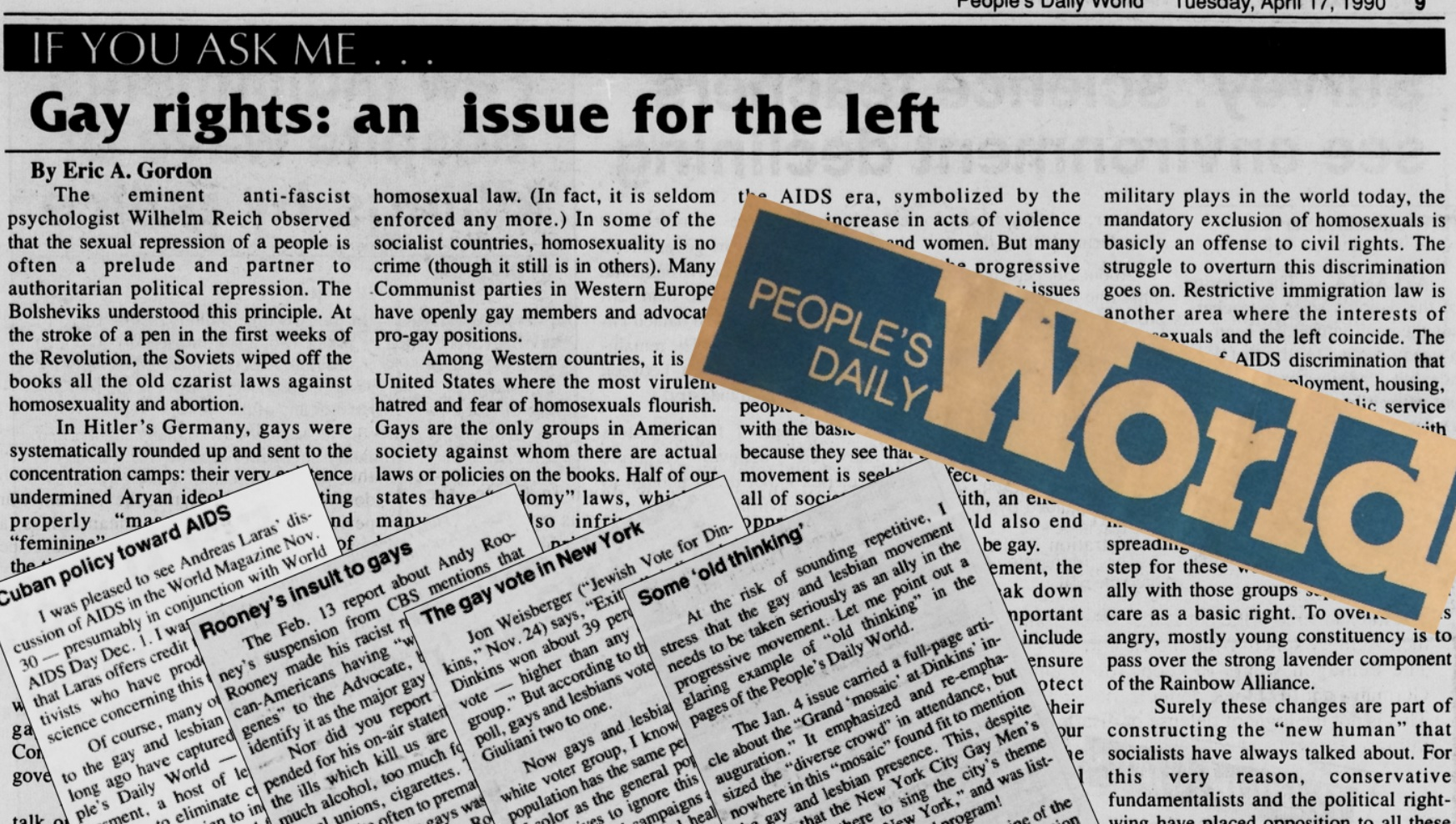 Gay rights in the Communist press: Recollections of a seminal article