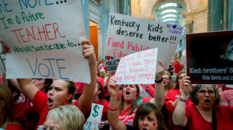 Teachers are fighting for a lot more than their own paychecks