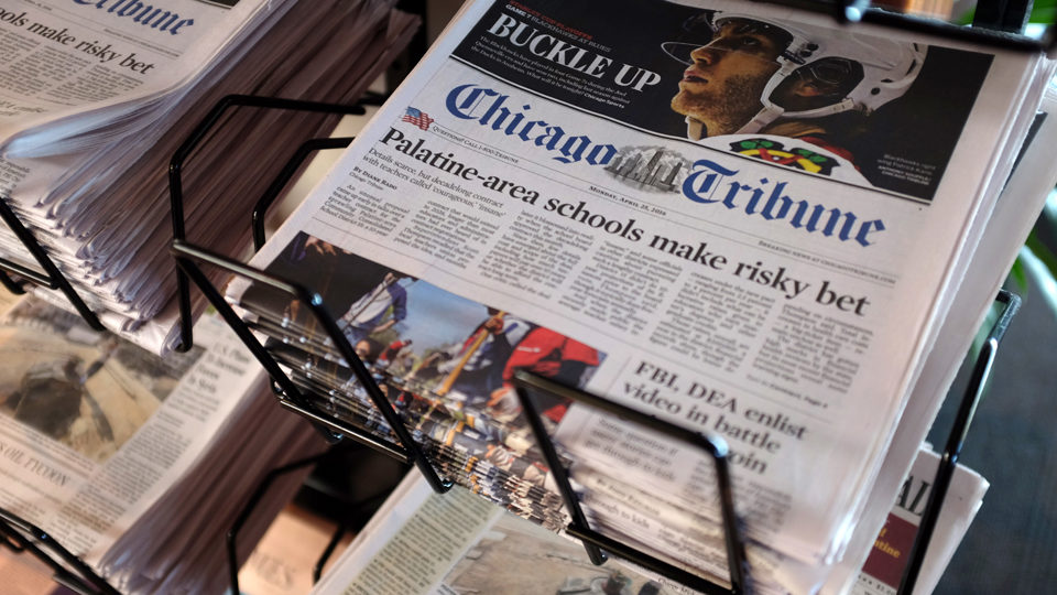 """Chicago Tribune staff: """"It's time to form a union"""""""