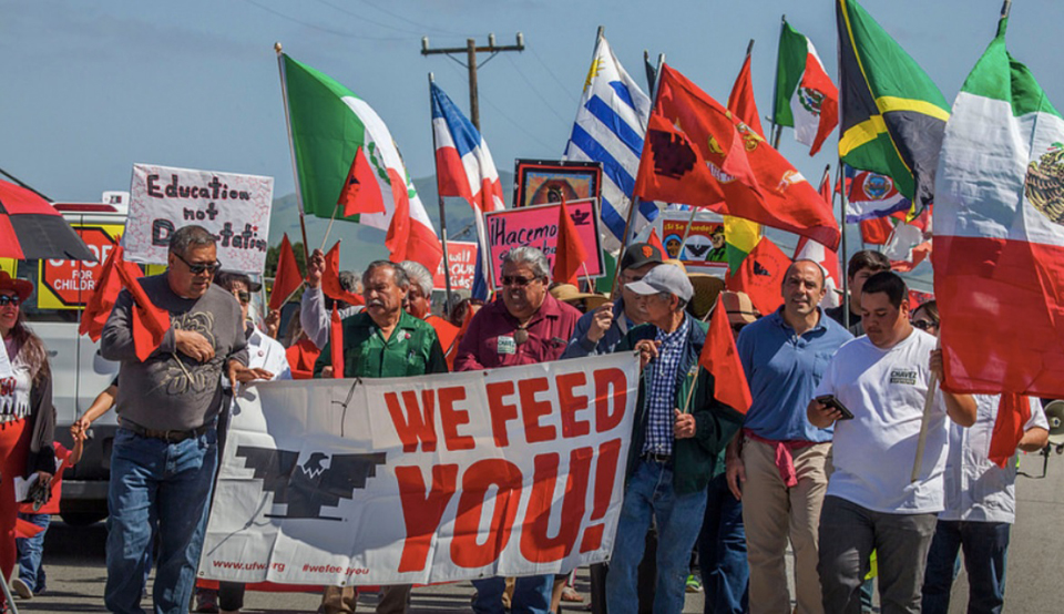 Salinas farm workers march to oppose immigration raids