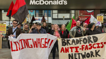 May Day for McDonald's: British workers walk off the job