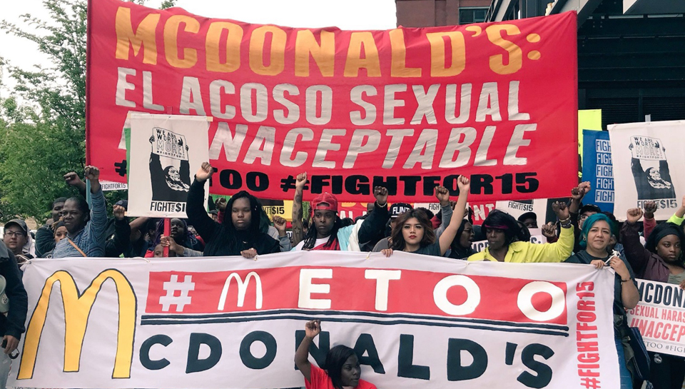 McDonald's workers slam firm for sexual harassment, low pay