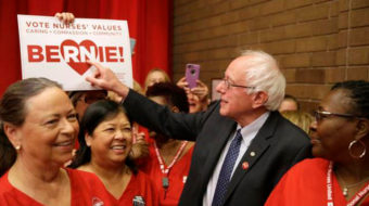 Nurses' campaign for Medicare for All gets boost from Sanders
