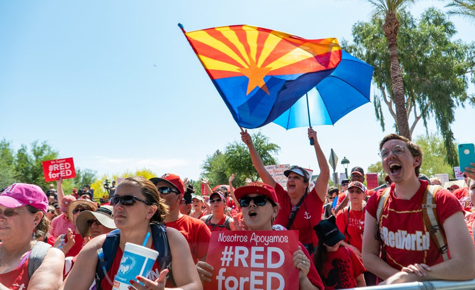 Arizona teachers win, vow to keep marching through November