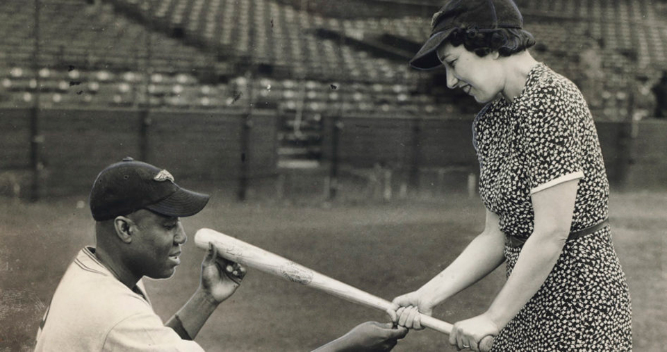 The First Lady of baseball