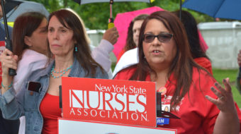 New York nurses rally for safe staffing ratios