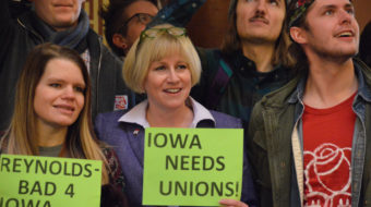 Union nurse in chaotic Iowa Dem gubernatorial primary