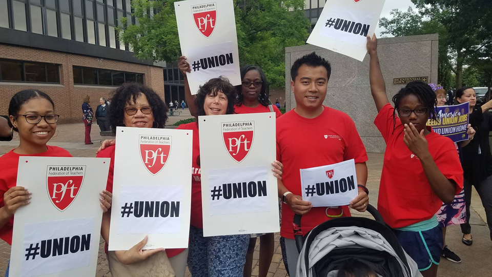 Philadelphia area labor: 'Janus won't stop us!'