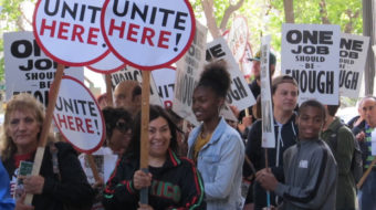 Workers: 'Make one job at Marriott enough to live on!'
