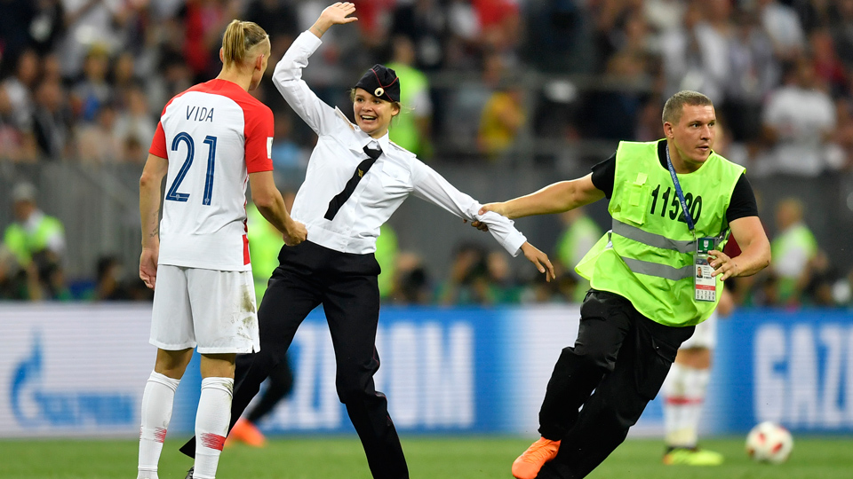 Politics on the pitch at World Cup final
