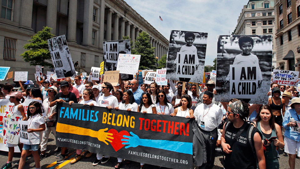 Labor joins nationwide mass marches for immigrants, against Trump policy