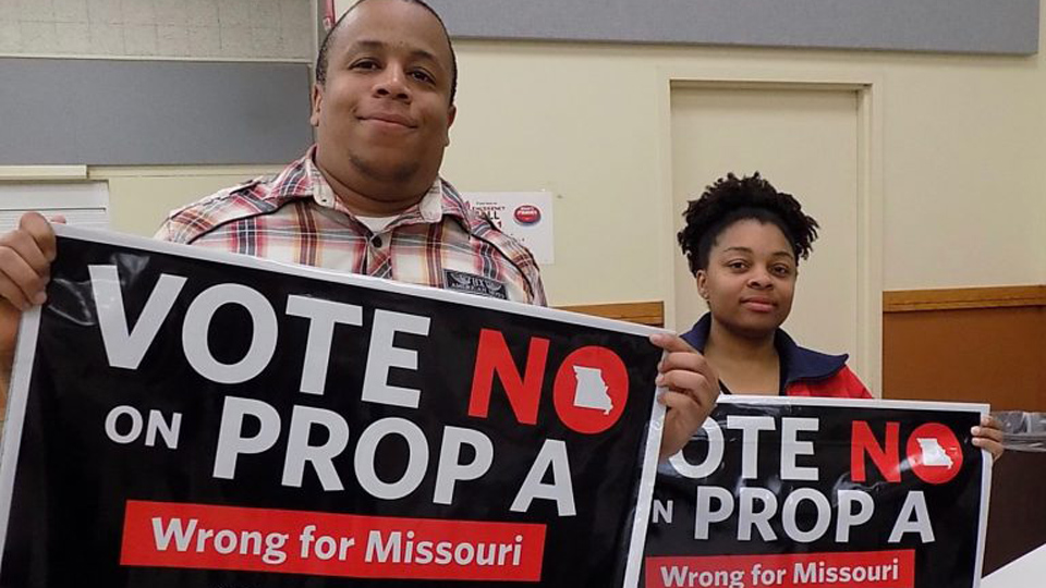 Missouri ground zero on national so-called 'right to work'