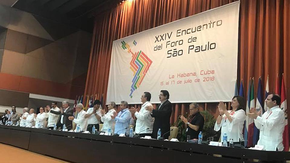 Declaración final Foro de Sao Paulo: Latinoamérica sigue en pie de lucha