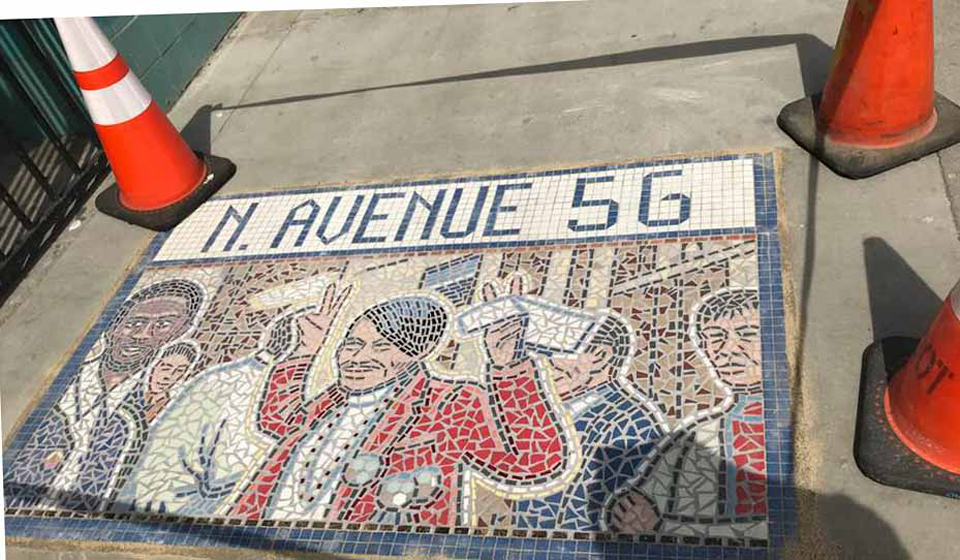 A new mosaic in Highland Park features activist Rosalio Urias Muñoz
