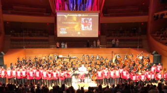 Inner City Youth Orchestra of Los Angeles takes a knee