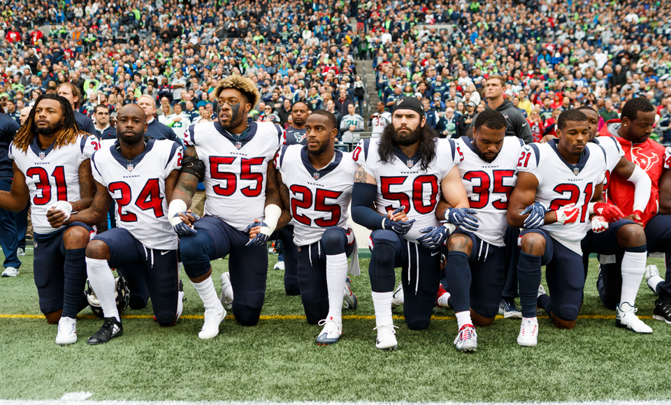 NFL players' union files grievance against Trump-inspired anthem policy