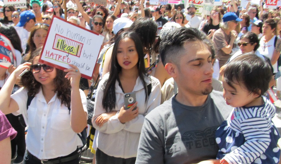 Tens of thousands rallied for Families Belong Together